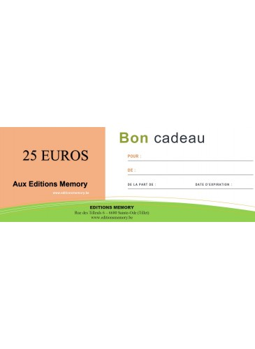 Chèque cadeau 25 euros