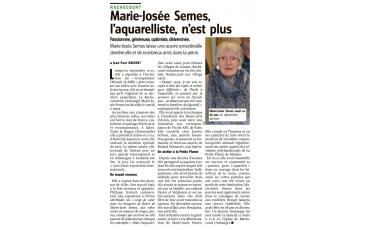 Hommage à Marie-Josée Semes